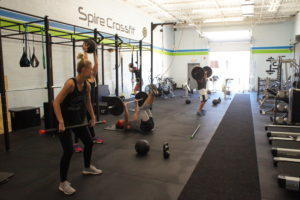 CrossFit barbell and plates ready for action